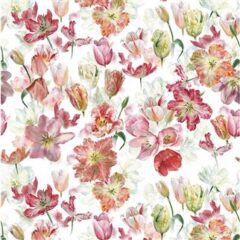 Tulip Garden Azalea  Curtain Fabric