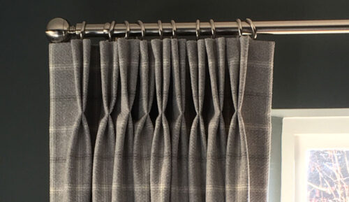 Double pleat headed curtains