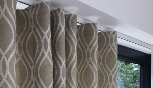 Wave headed curtains
