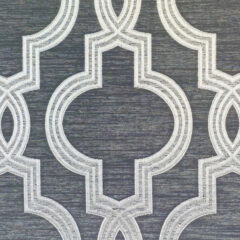 Aspen Silver Curtain Fabric