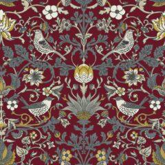 Audley Claret Curtain Fabric
