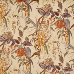 Botanist Amber Curtain Fabric