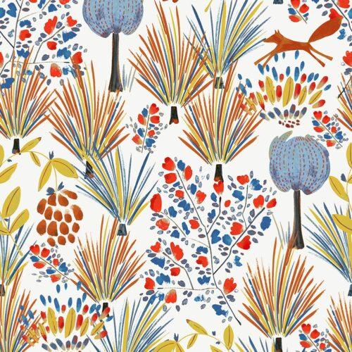 Grassland Paprika fabric