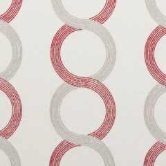 Grove  Red Curtain Fabric