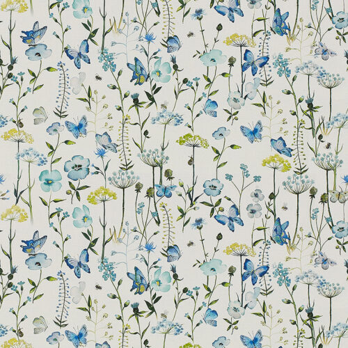 Meadowsweet Cornflower fabric