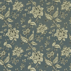 Palampore Denim Curtain Fabric
