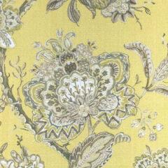 Rosemoor Ochre Curtain Fabric