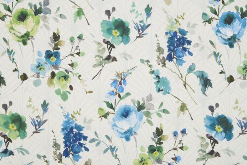 Valentina Teal Green fabric