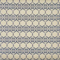 Baltra Indigo Curtain Fabric