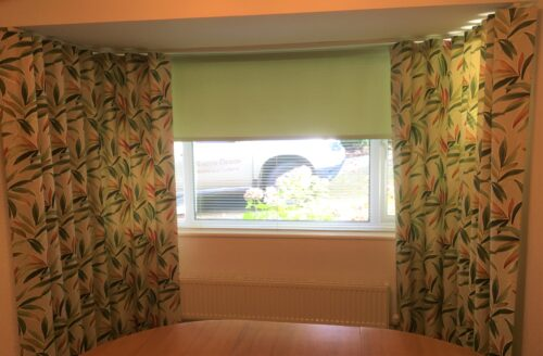 Curtains with Roller Blind