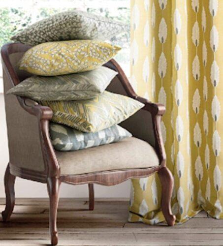 Cushions and Curtain