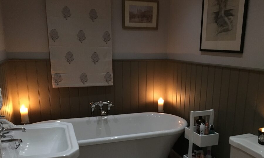 Roman Blind in bathroom