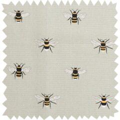 Bees Grey Curtain Fabric