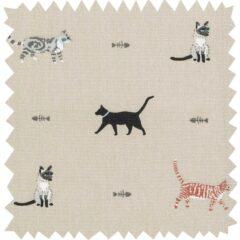 Cats Curtain Fabric