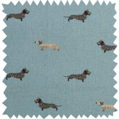Dachshunds Curtain Fabric