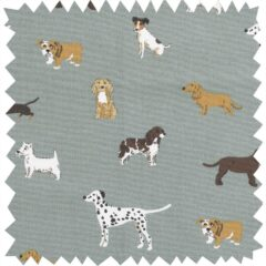 Dogs Fetch Curtain Fabric