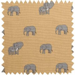 Elephants Curtain Fabric