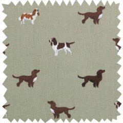 Spaniels Curtain Fabric