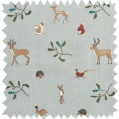 Woodland Animals Curtain Fabric